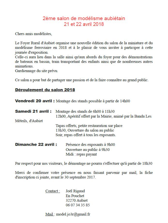 Salon du modélisme d'AUBIET / 21 et 22 avril 2018 Salon_10