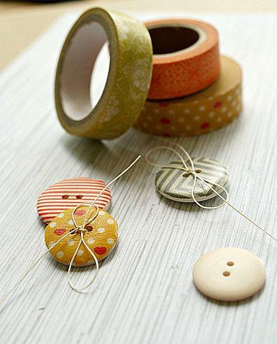 Boutons et Washi Tape =  beau mariage!! 10011210