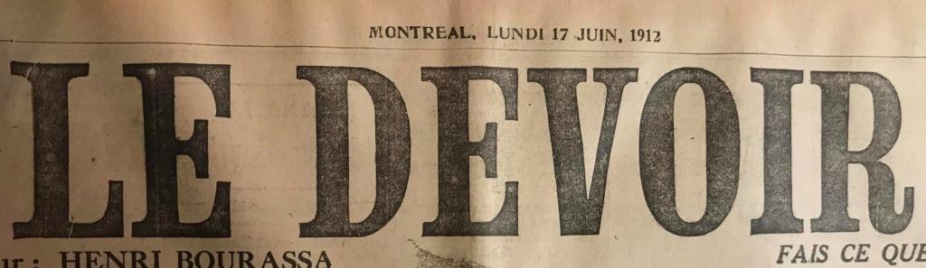 Le naufrage du Titanic fait la une des journaux - Page 11 Devoi527