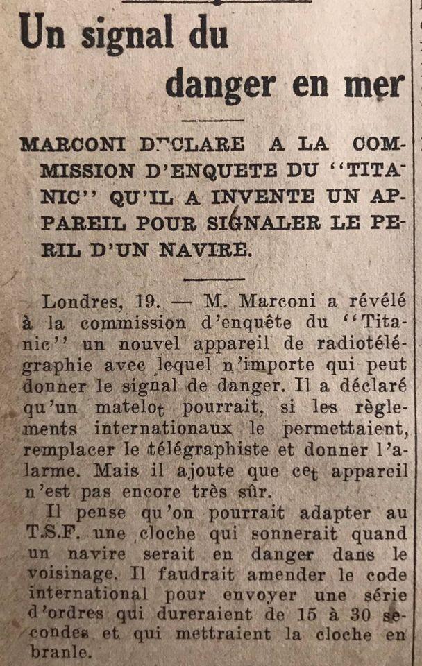 Le naufrage du Titanic fait la une des journaux - Page 11 Devoi532
