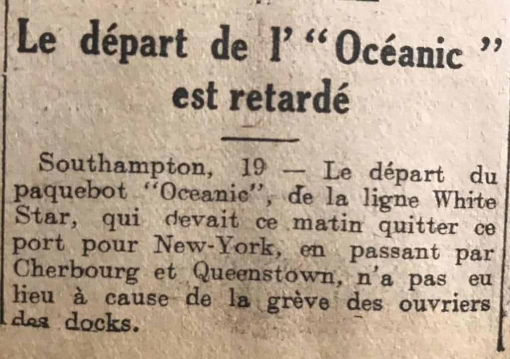 Le naufrage du Titanic fait la une des journaux - Page 11 Devoi535