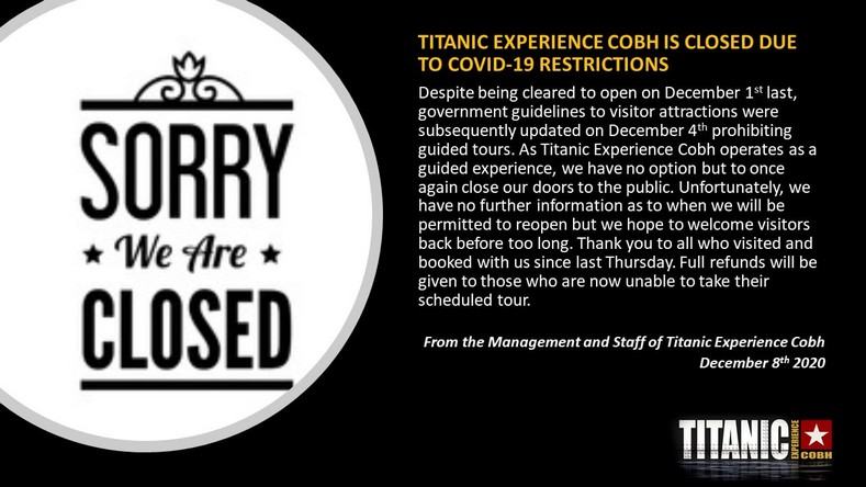 Covid-19 : impact sur les sites touristiques liés au Titanic - Page 4 Experi13