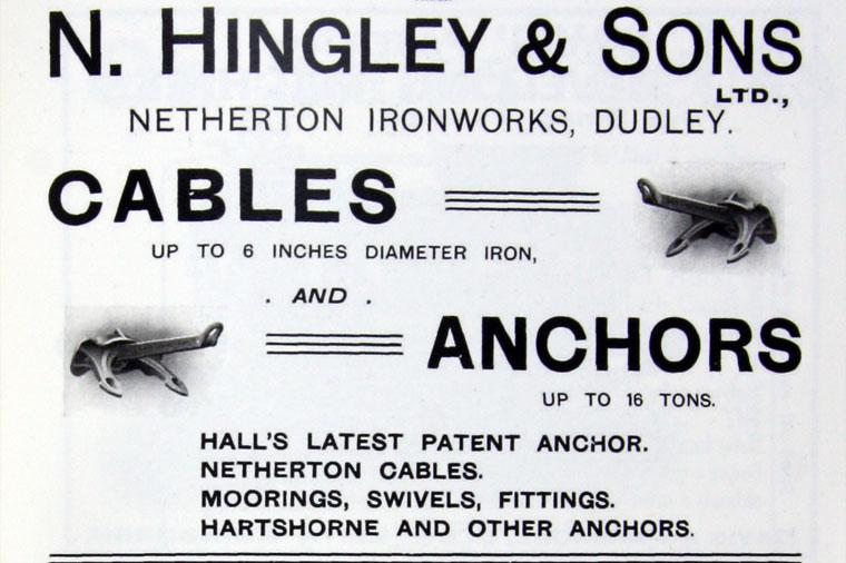 N. Hingley & Sons Ltd : le constructeur de l'ancre du Titanic Im191110
