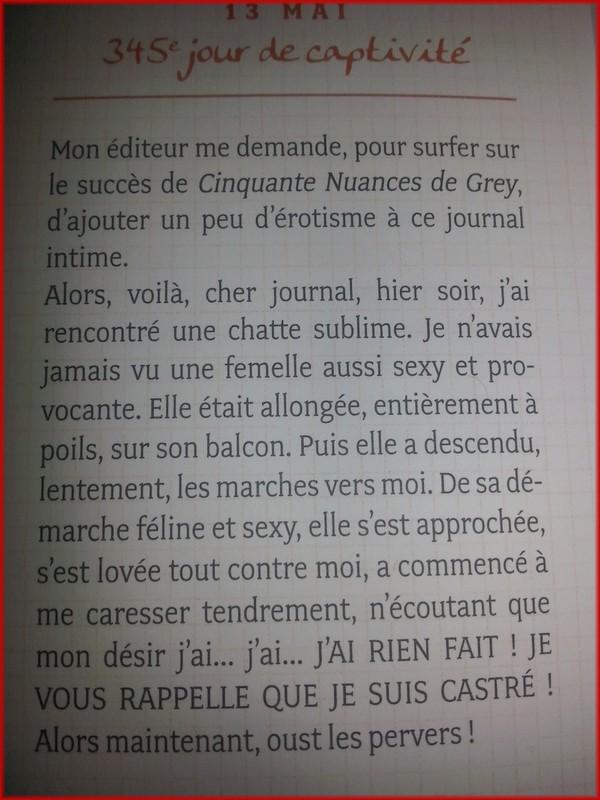 POUHIER Frédéric & JOUFFA Suzie : Journal intime d'un chat acariâtre 20140211