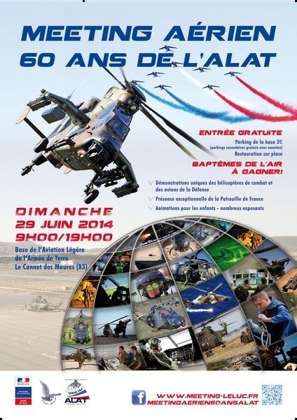 29 juin: Meeting Aérien ALAT  Le Luc  (83) Affich24
