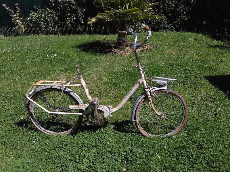 Mini Peugeot D40, transformation en vélo de jardin Img_2022