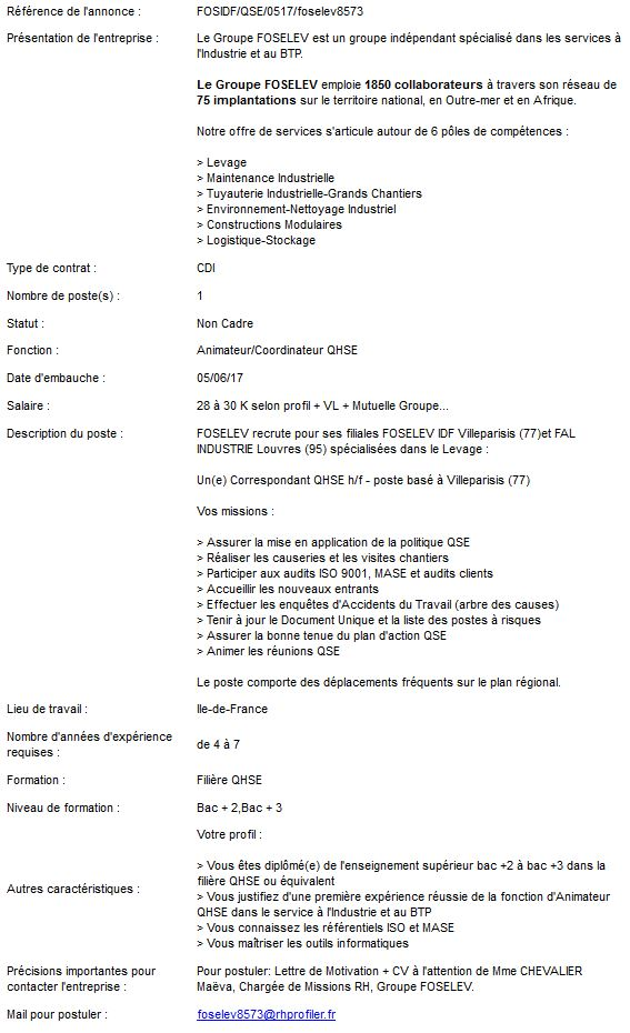 Offres d'emploi FOSELEV Offre_10