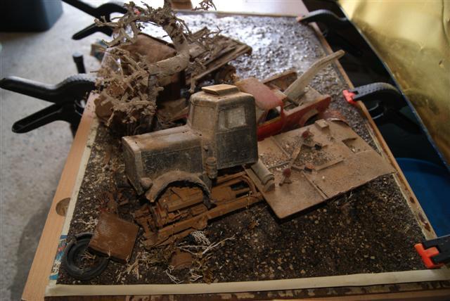 Diorama épaves terminer. Essais52