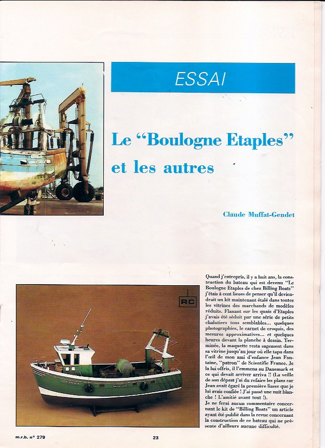 Le boulogne Etaple de Billing Boat / Scientifique France Boulog12