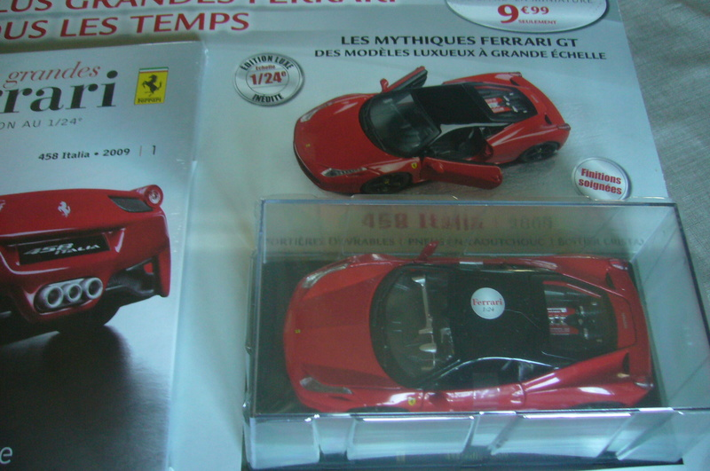 Ferrari 458 Italia Hachette collection 1 / 24° P1210752