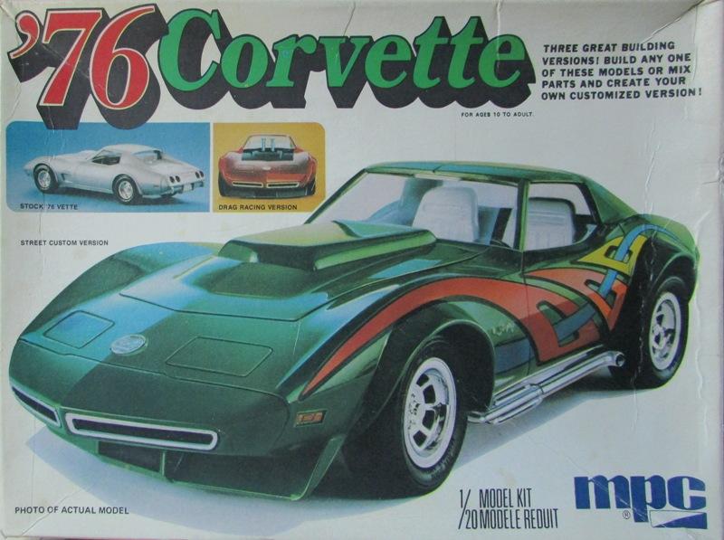 Mon dernier achat, une Corvette 1976 MPC au 1/20 00211