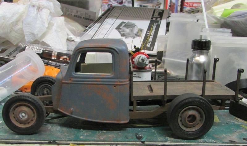 Shop report #11; 1937.  Ford Pickup Rat Rod  01016