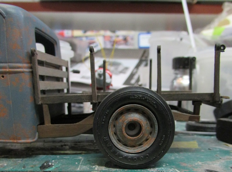 Shop report #11; 1937.  Ford Pickup Rat Rod  01115