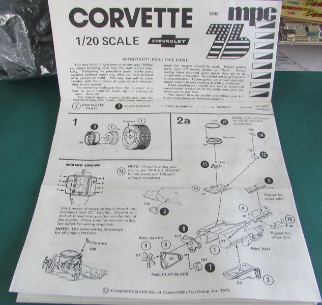 Mon dernier achat, une Corvette 1976 MPC au 1/20 01411