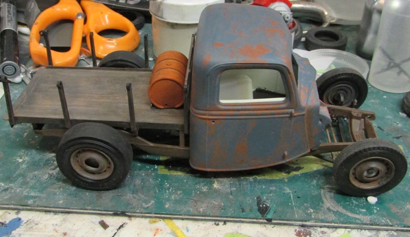 Shop report #11; 1937.  Ford Pickup Rat Rod  01714