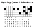 Mythology Quotes I: Fallen Puzzle Screen12
