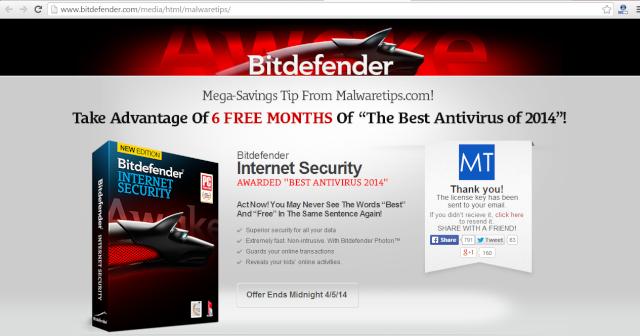 Miễn phí 6 tháng bản quyền Bitdefender Internet Security 2014 1310