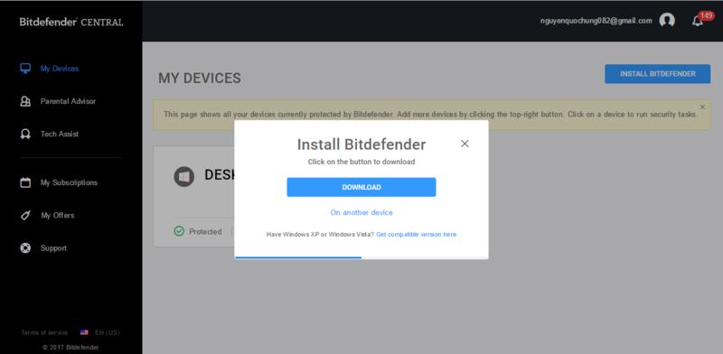 Miễn phí 3 tháng bản quyền Bitdefender Total Security 2018 Bitdef11