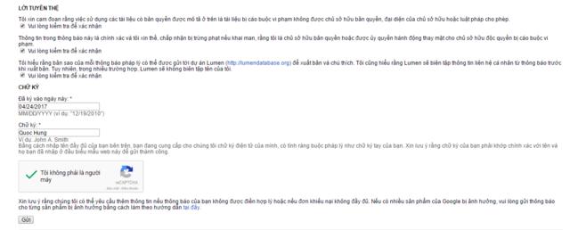 Hướng dẫn báo cáo website copy bài viết lên google DMCA Google15