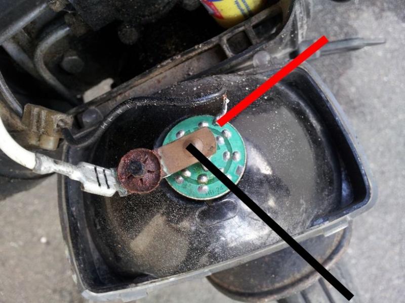 Réalisation d'un circuit d'alimentation LED pour cyclomoteur Essai110