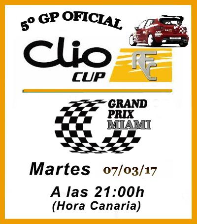 QUINTO GP CLIO CUP 2017 ( MIAMI ) Cliocu11