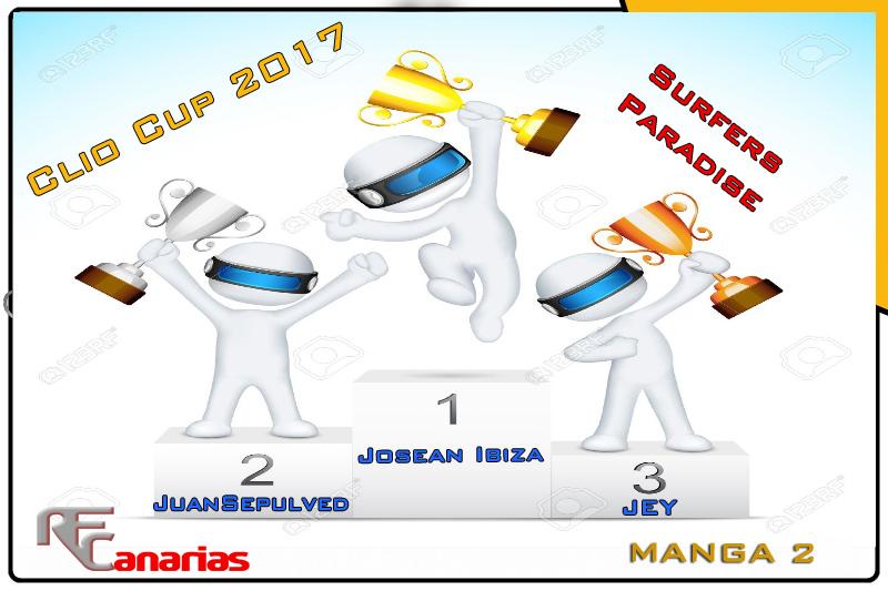 ULTIMO GP DE LA CLIO CUP EN SURFERS PARADICE Podium17