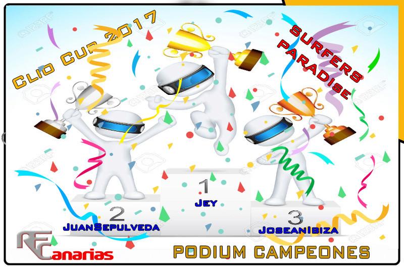 ULTIMO GP DE LA CLIO CUP EN SURFERS PARADICE Podium18