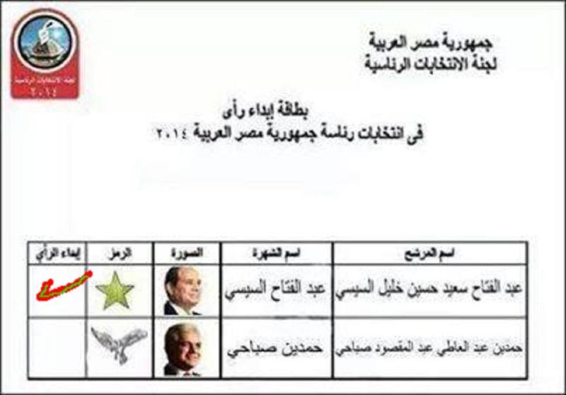 يهيب الحاج رجب الأسيوطى أبناء قريته النزول للإدلاء بأصواتهم في الانتخابات الرئاسية 26 و 27 مايو 2014 م .  746