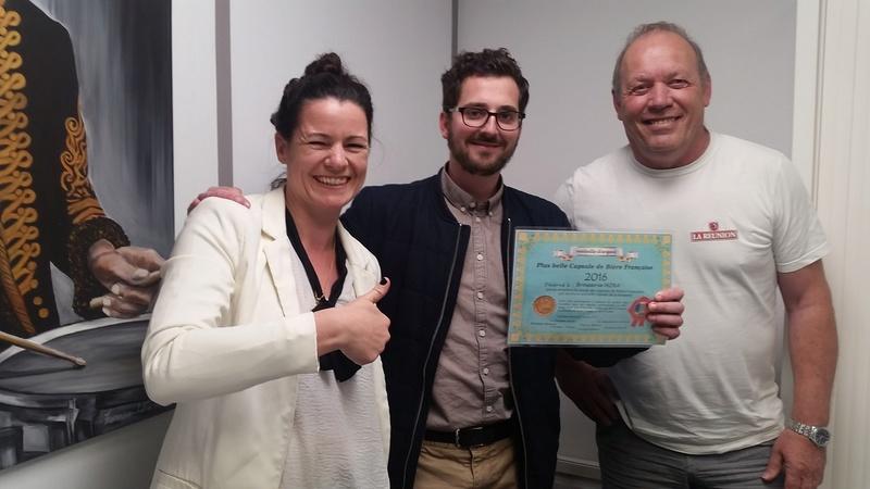Remise du diplôme 2eme prix 2016 à la Brasserie Mira 2017-010