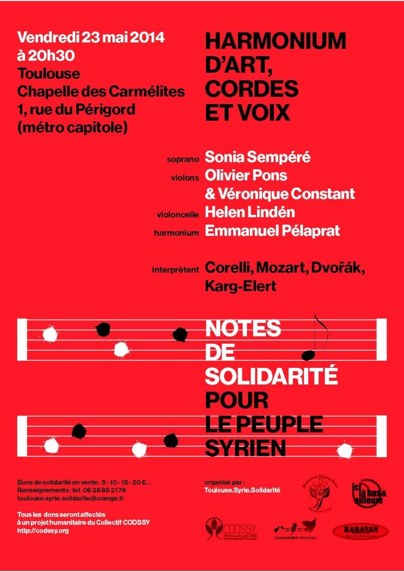 harmonium, cordes et voix à Toulouse : concert de soutien au peuple syrien Flyer_10