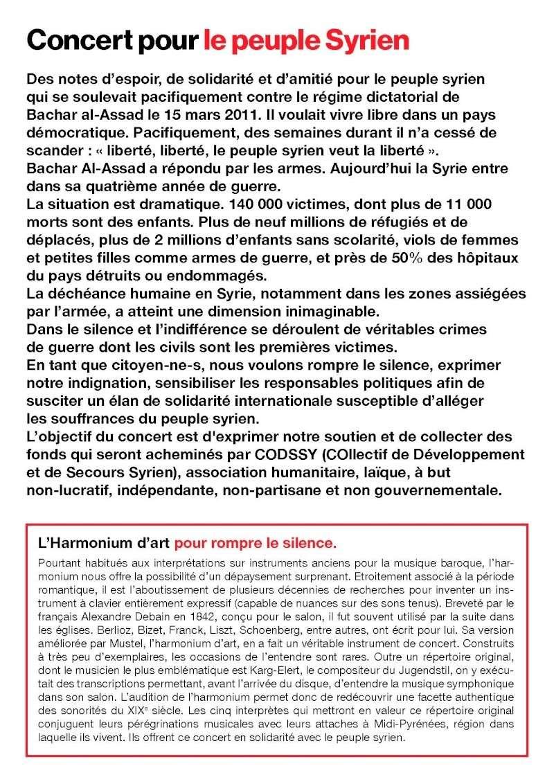 harmonium, cordes et voix à Toulouse : concert de soutien au peuple syrien Flyer_11