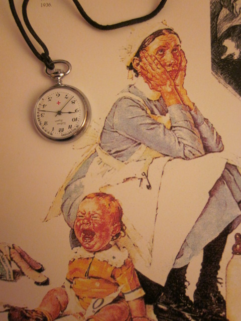 Montre inversée pour infirmière Vuillemin-Regnier (1980) 00115