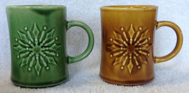 Different Glazes on Crown Lynn Four Digit Mugs (titianware etc) 111110