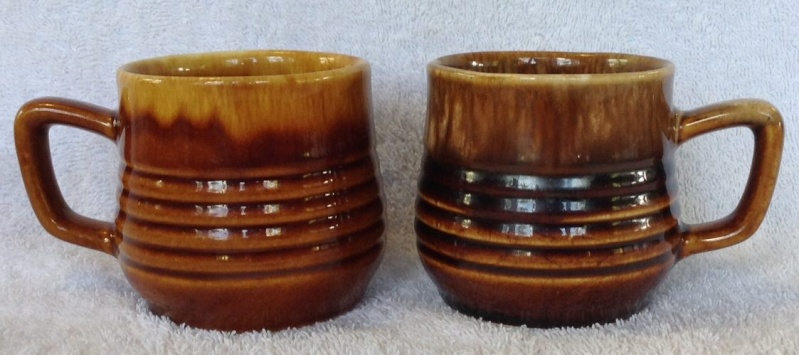 Different Glazes on Crown Lynn Four Digit Mugs (titianware etc) 124110