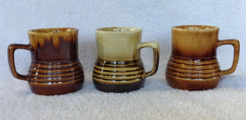 Different Glazes on Crown Lynn Four Digit Mugs (titianware etc) 124210
