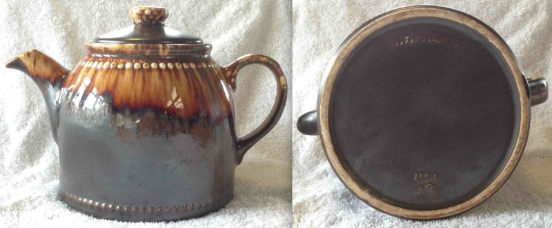 "Three Titianware ""Country Fair"", ""Bobbles"" teapots in the same glaze: 1354 1404 1435 1354co10"