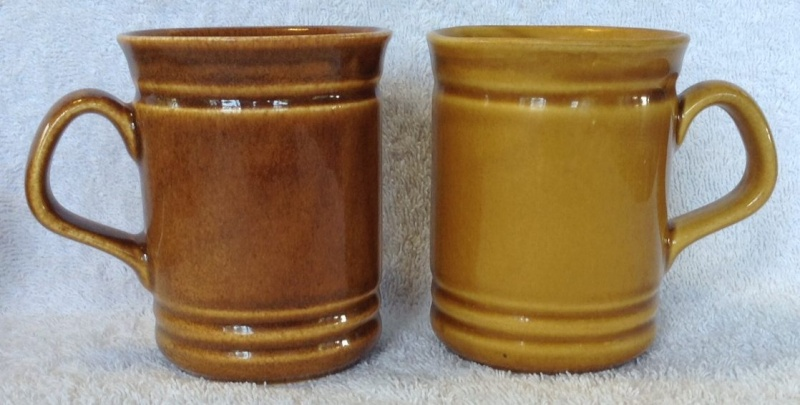 Different Glazes on Crown Lynn Four Digit Mugs (titianware etc) 135710