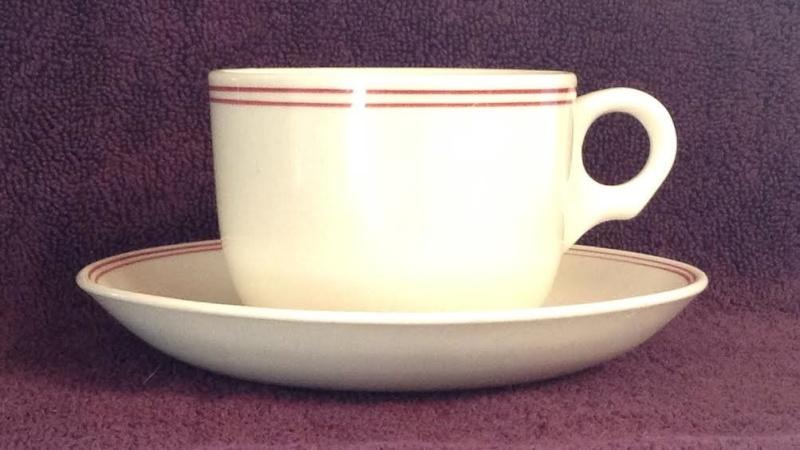 3635 vitrified Carlton Cup and matched saucer 3635sa10