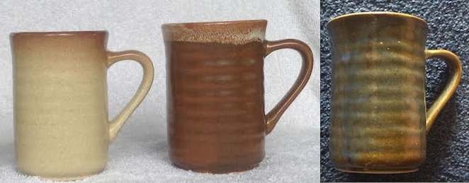 Cups - stamped Made In New Zealand - These must be Clay Craft 3glaze10