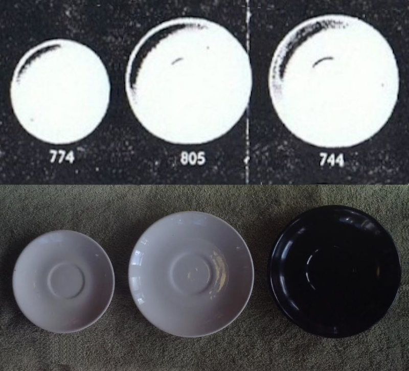 Earthenware Coupe Saucers: 774, 805, 744 744_et10