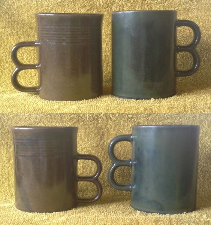 Double Handle Mugs - Basalt and Lucow from CL and a likely Teal Double11