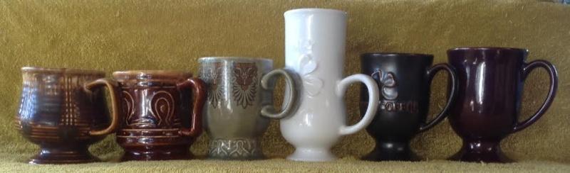 Crown Lynn four digit Goblet Mugs Goblet13