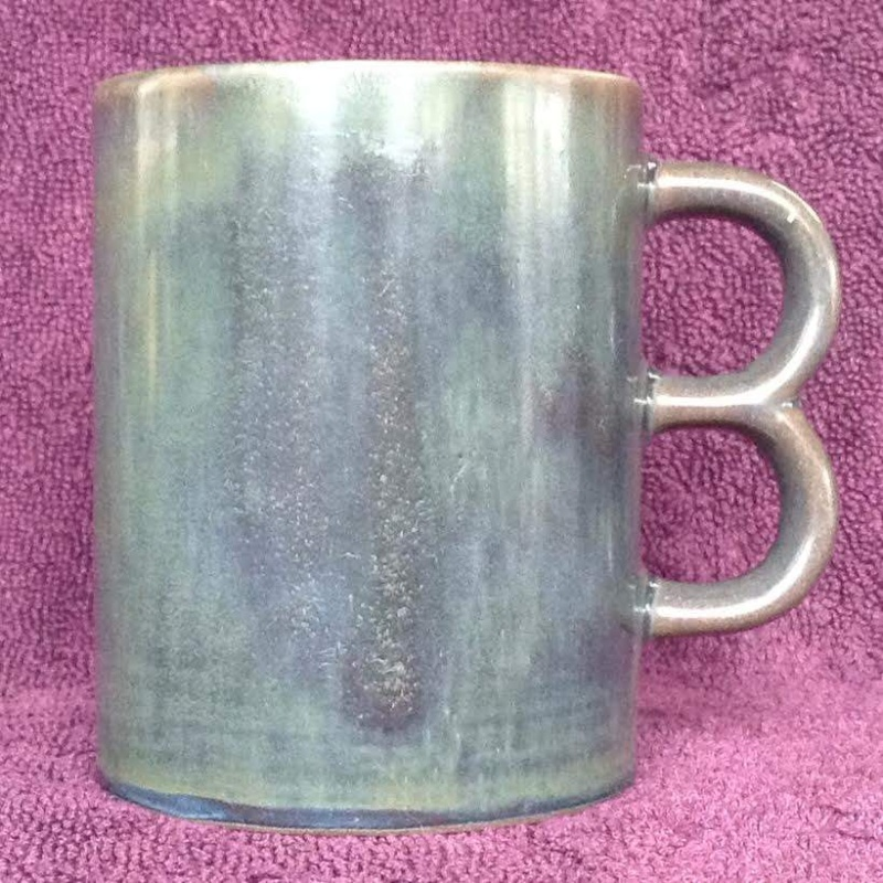 Double Handle Mugs - Basalt and Lucow from CL and a likely Teal Lucow210