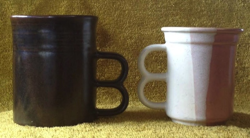 Double Handle Mugs - Basalt and Lucow from CL and a likely Teal Oh10