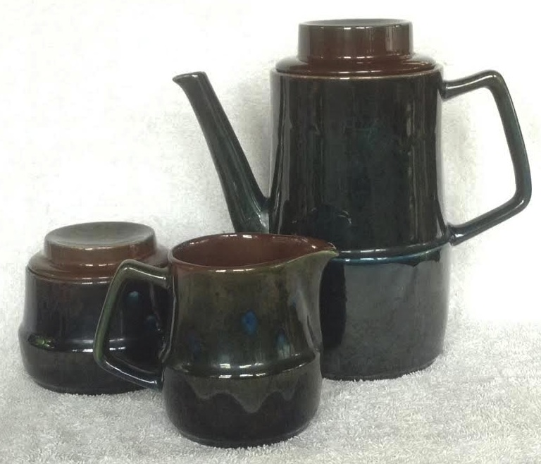 Orzel Coffee Pot for the gallery + milk and sugar Or3a10