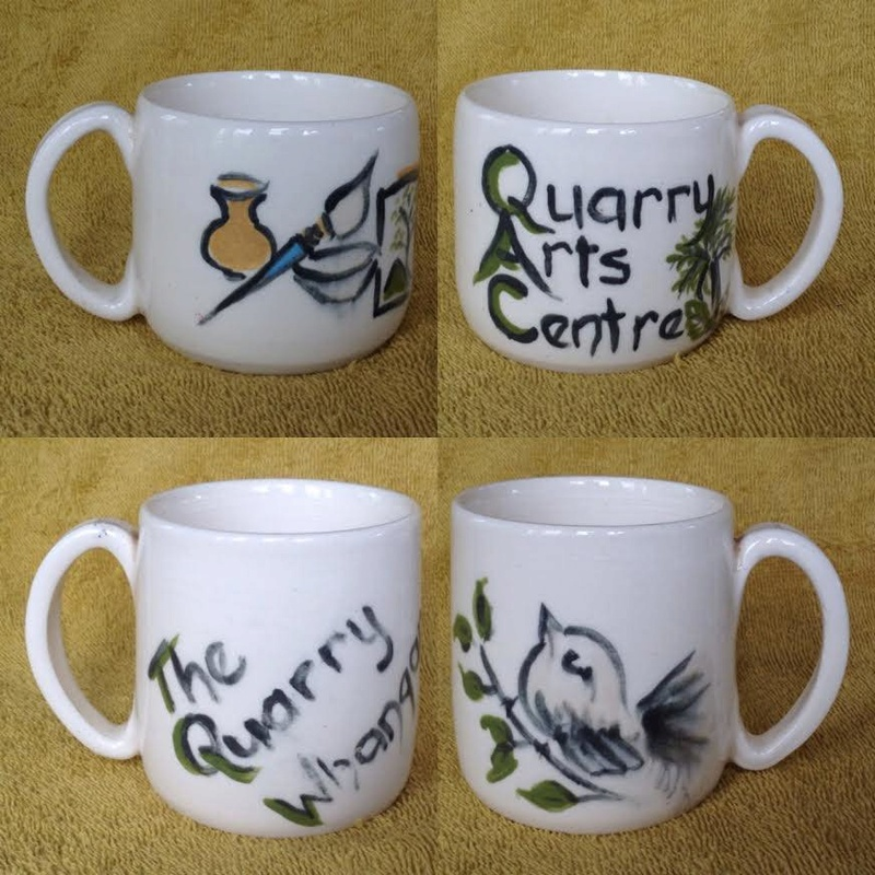 """Cathy Robinson: """"The Quarry Whangarei"""" and """"Quarry Arts Centre"""" mugs Quarry10"""