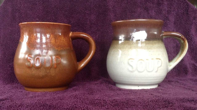 Clay Craft etc: soup mugs & bowls, canister/vase Soup11