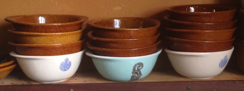 Adding Interest to the Stacks: 8041 soup bowl in Sundowner for GALLERY. Stacks11