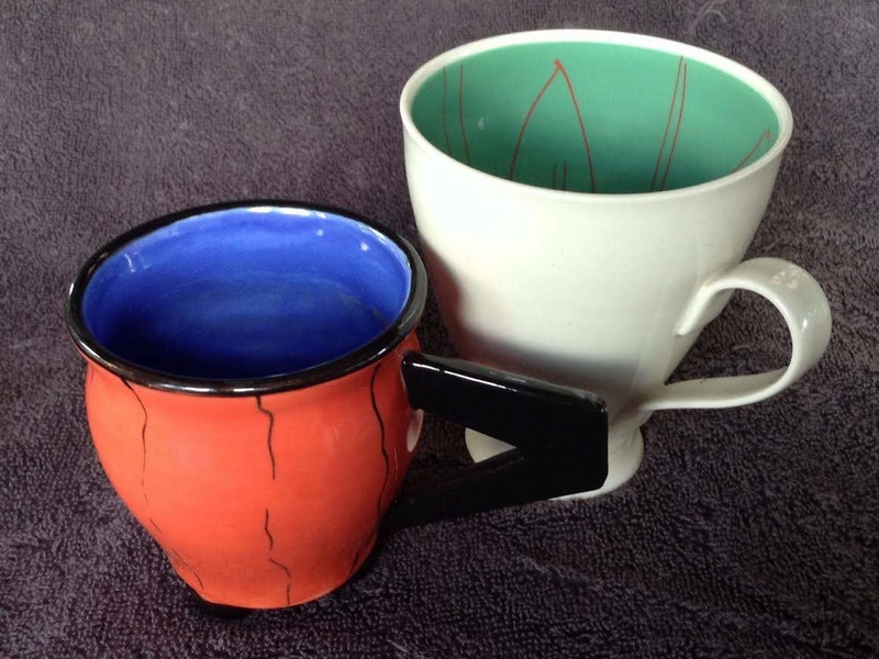 "Four curious mugs by ""Sue"" Sue0210"