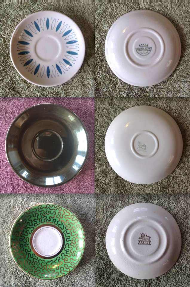 Earthenware Coupe Saucers: 774, 805, 744 Variou10